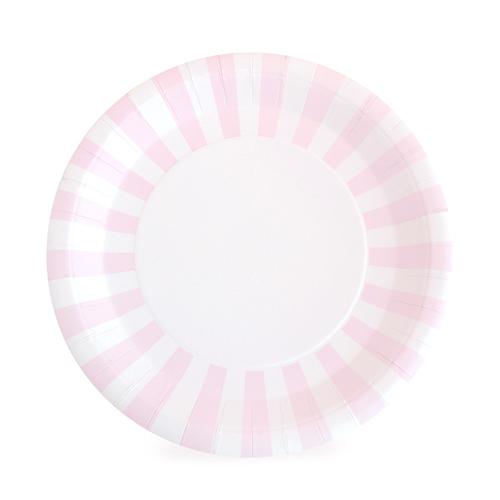 Light Pink Striped Dinner Plates  sc 1 st  Oh So Fancy & Light Pink Striped Dinner Plates \u2014 Oh So Fancy