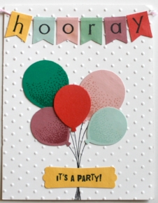 Hooray Pastel Balloon Birthday Invitation - OhSoFancyParty.com