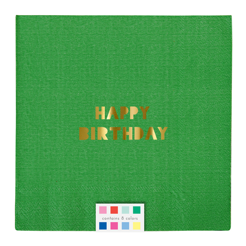 Oh So Fancy - Happy Birthday Multi Colored Napkins