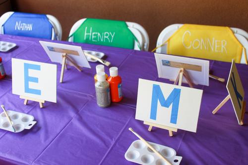 Kids Art Party - OhSoFancyParty.com
