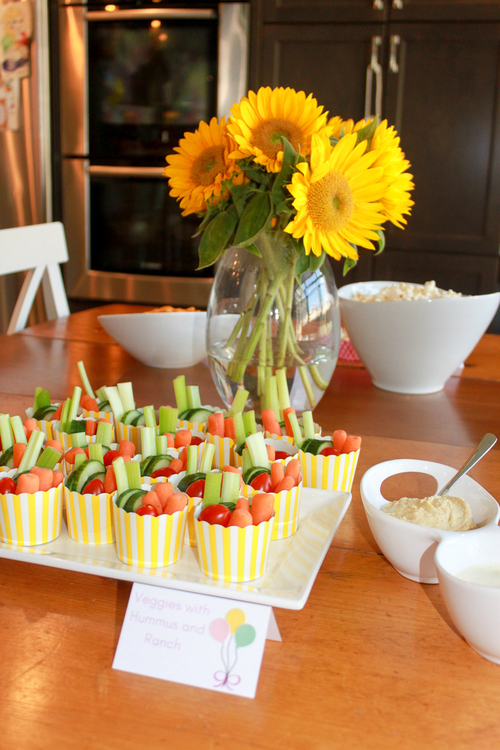 Yellow and White Treat Cups - OhSoFancyParty.com