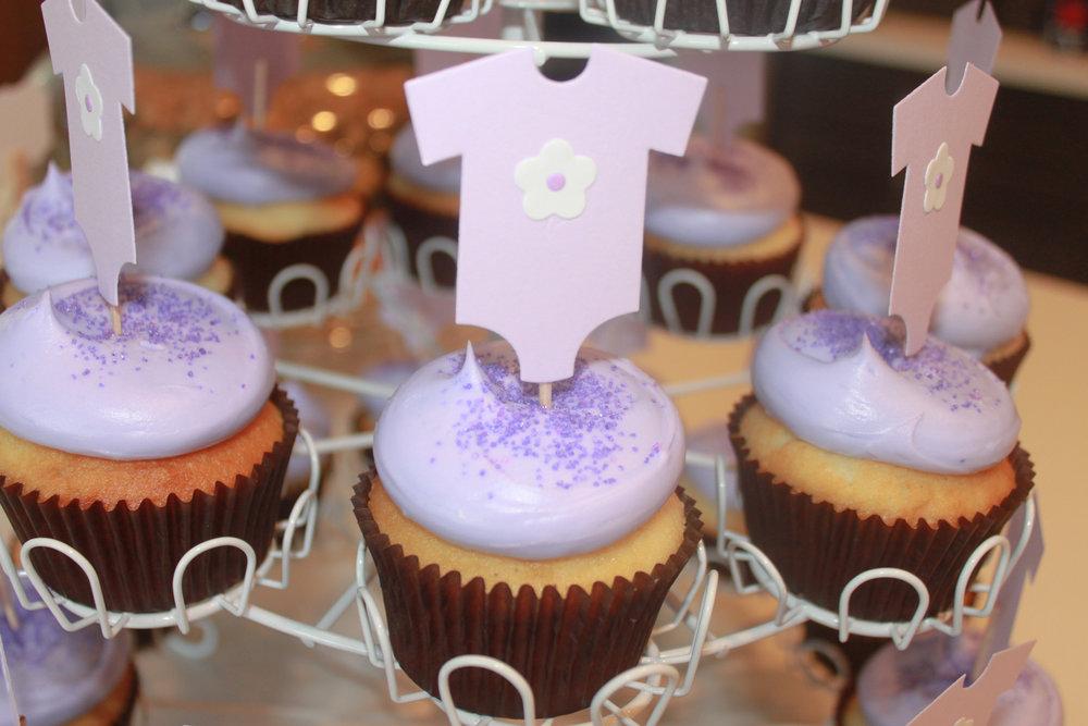 Baby Girl Sprinkle Onesie Cupcake Topper - OhSoFancyParty.com