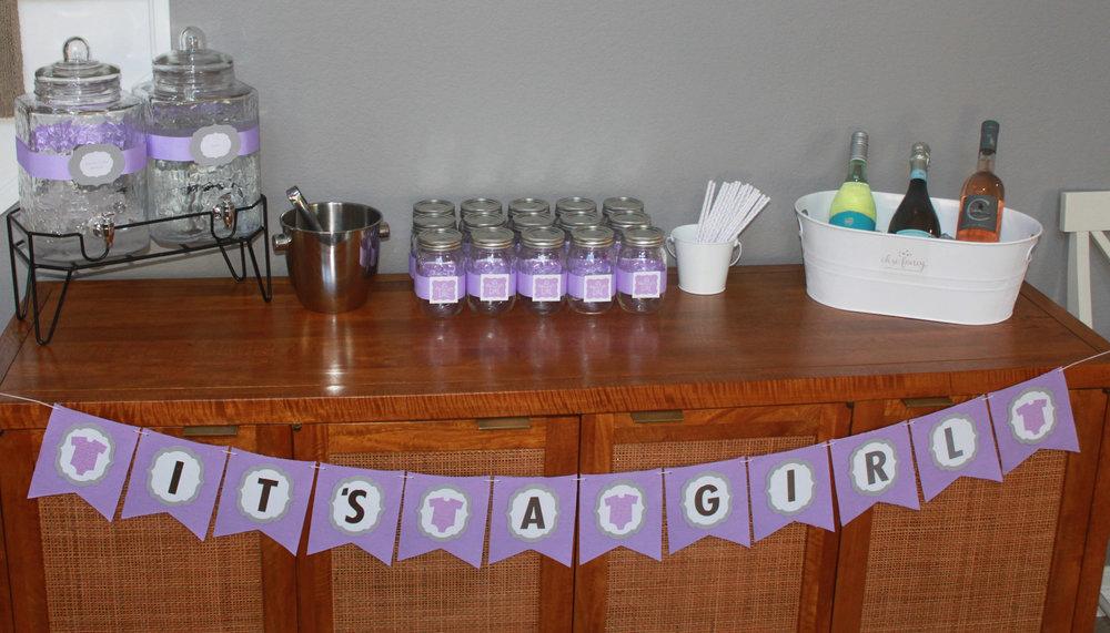 Baby Girl Lavender Sprinkle - OhSoFancyParty.com