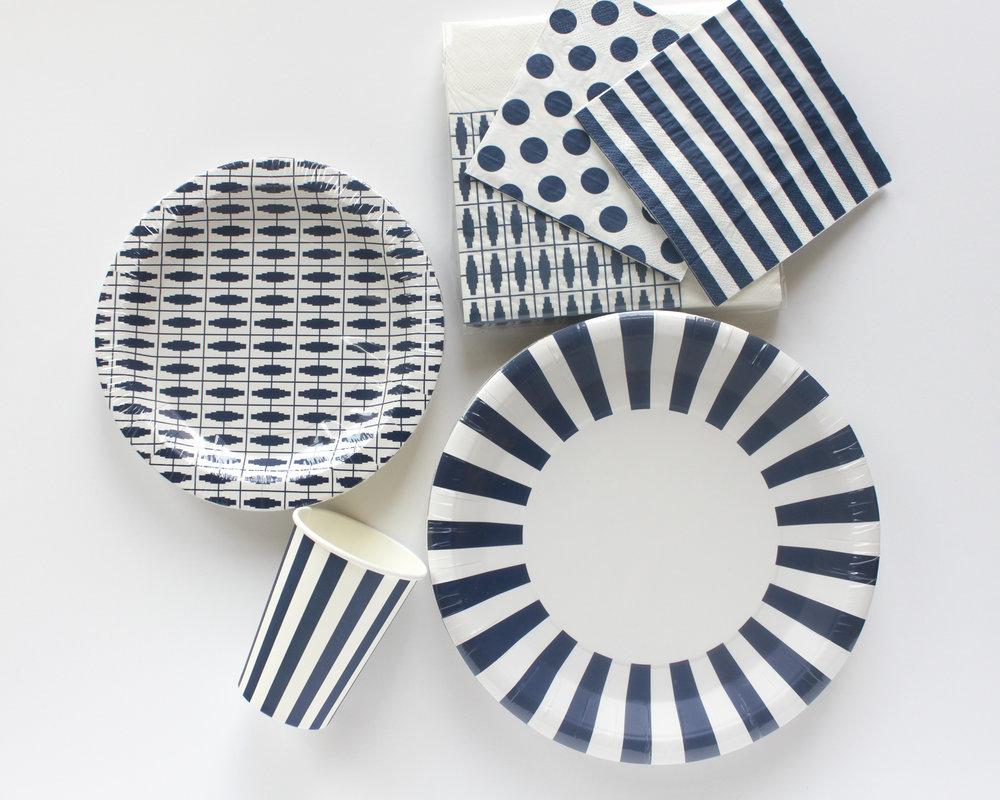 Navy Blue Striped Dinner Plates  sc 1 st  Oh So Fancy & Navy Blue Striped Dinner Plates u2014 Oh So Fancy