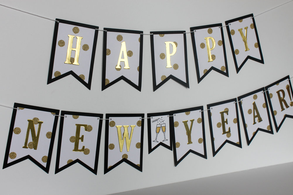 Happy New Year Banner - OhSoFancyParty.com