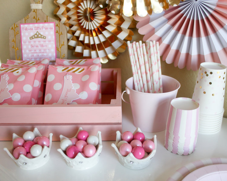 welcome little princess baby shower party in a pinch oh so fancy