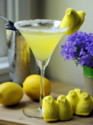 http://bakingbites.com/2013/03/peep-vodka-lemon-drop/