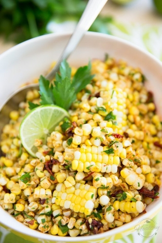 http://thehealthyfoodie.com - chili-lime-corn-salad/