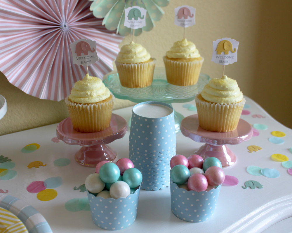 Welcome Little Peanut Cupcake Toppers - OhSoFancyParty.jpg
