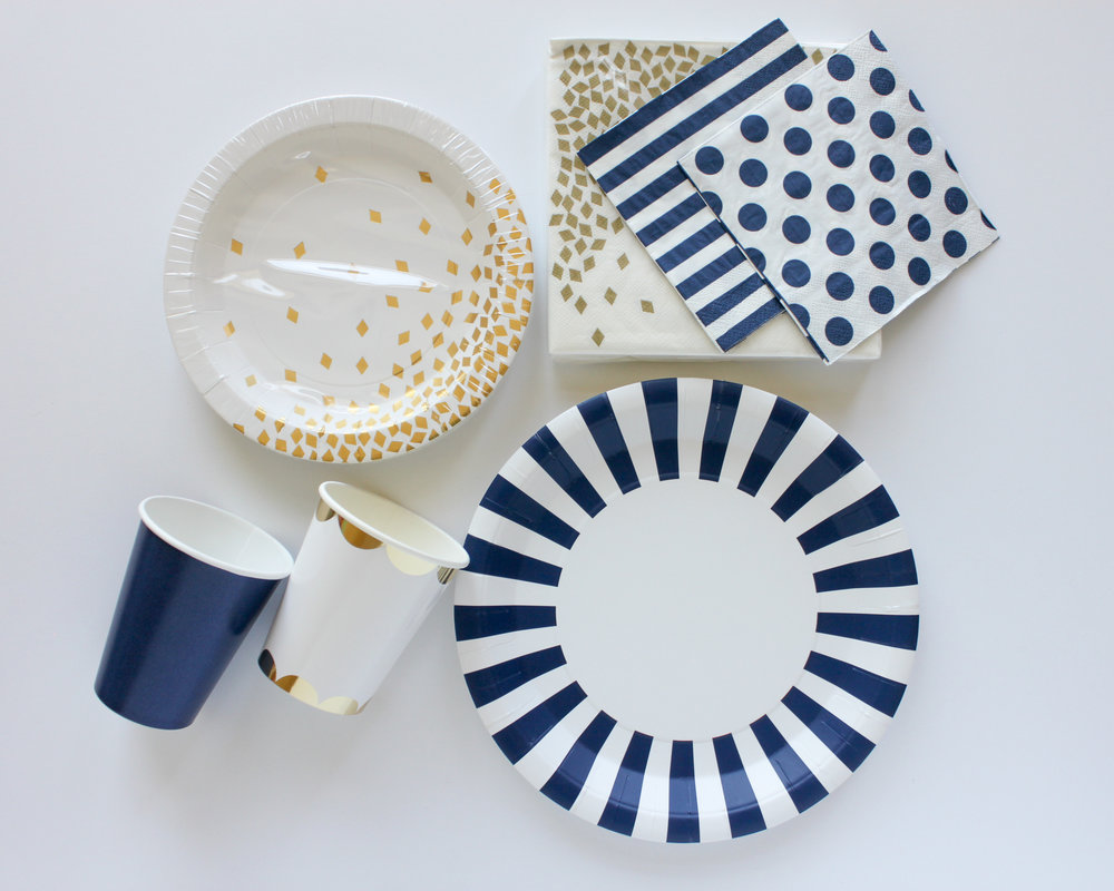 Navy Blue Striped Dinner Plates  sc 1 st  Oh So Fancy & Navy Blue Striped Dinner Plates u2014 Oh So Fancy