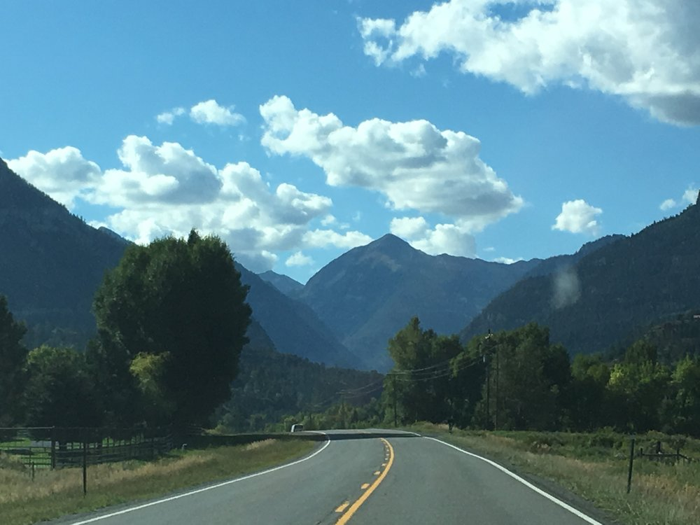 Road from Ridgeway to Ouray.