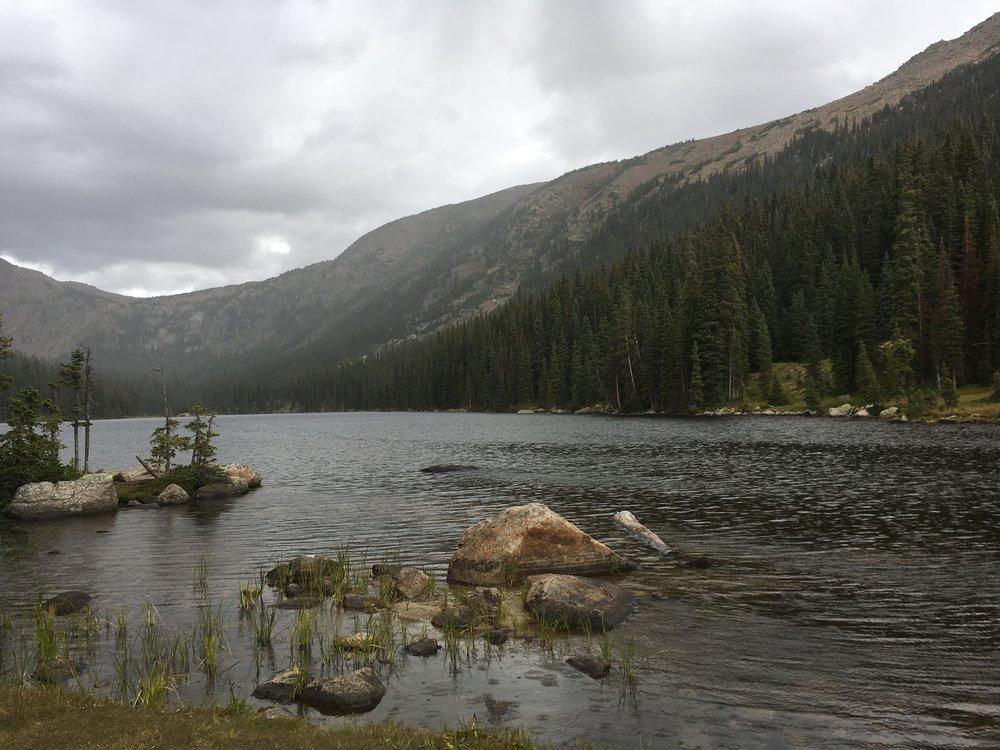 Granite Lake prior to hail in the face.