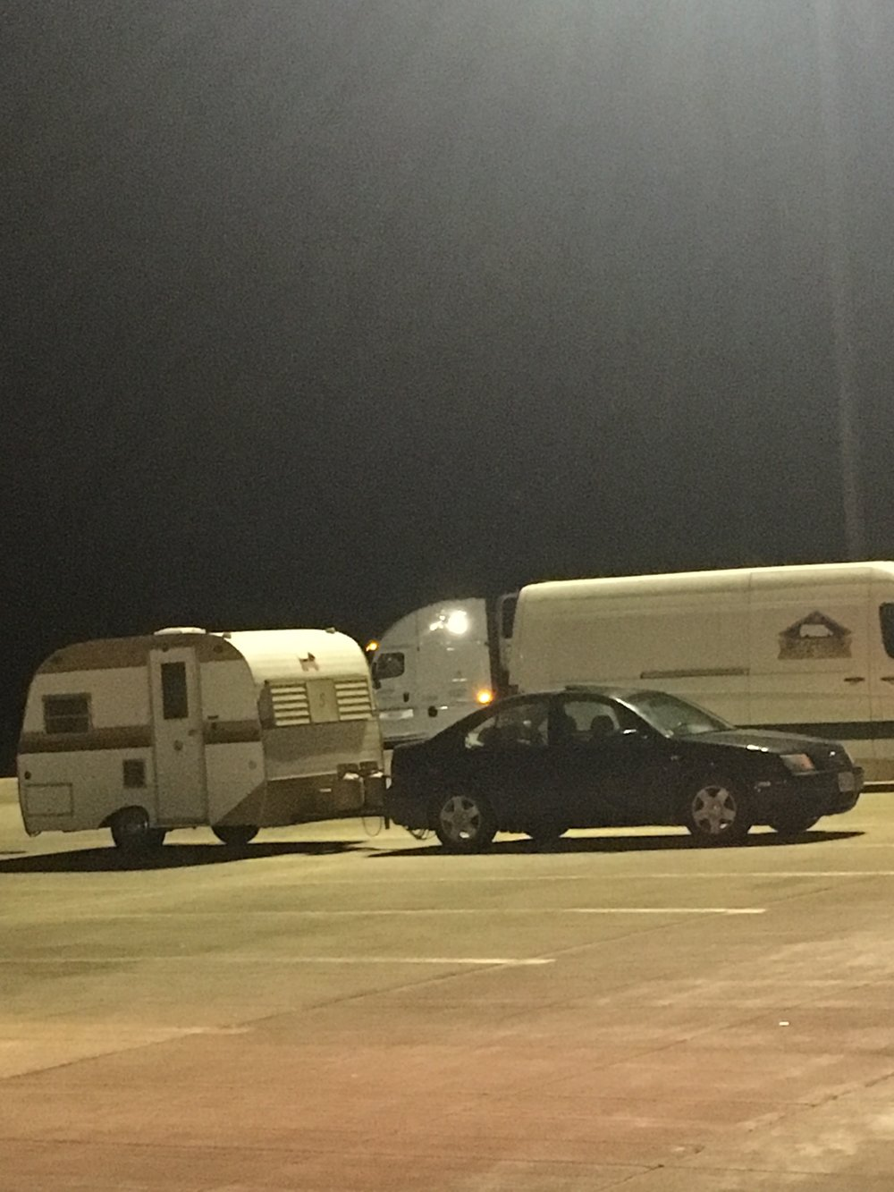 Spotted at the last New York rest stop we pulled of at. Who knew a Jetta could tow?