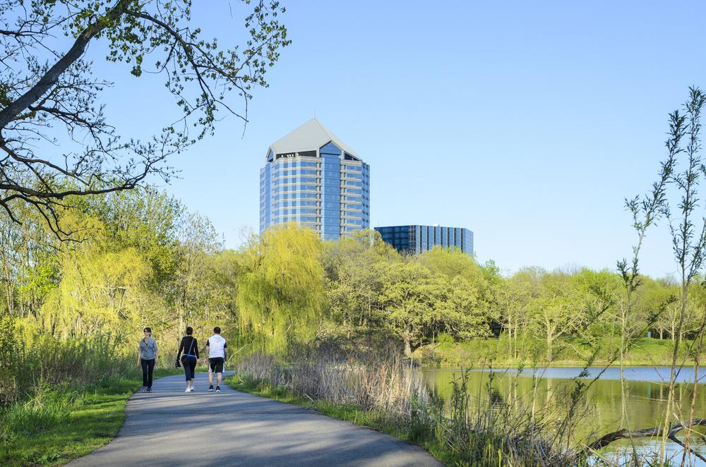 Adjacent to scenic hiking, biking, and walking trails