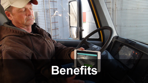 LoadOut offers a variety of benefits for truck drivers, facility managers, and employees. Visit the Benefits page.