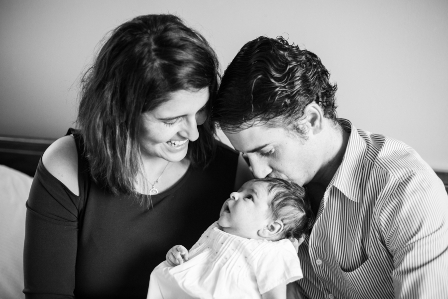 At home family and newborn session in Maryland