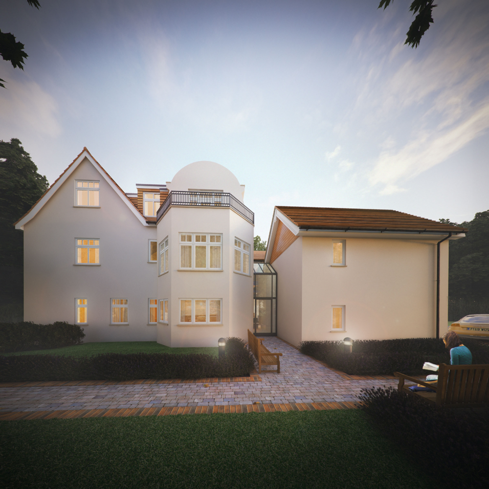 Five Elms Rear Garden - Architectural Visulisation CGI