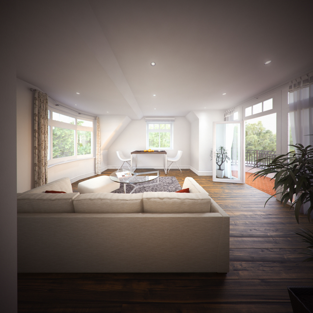 Five Elms Penthouse - Interior CGI Visual
