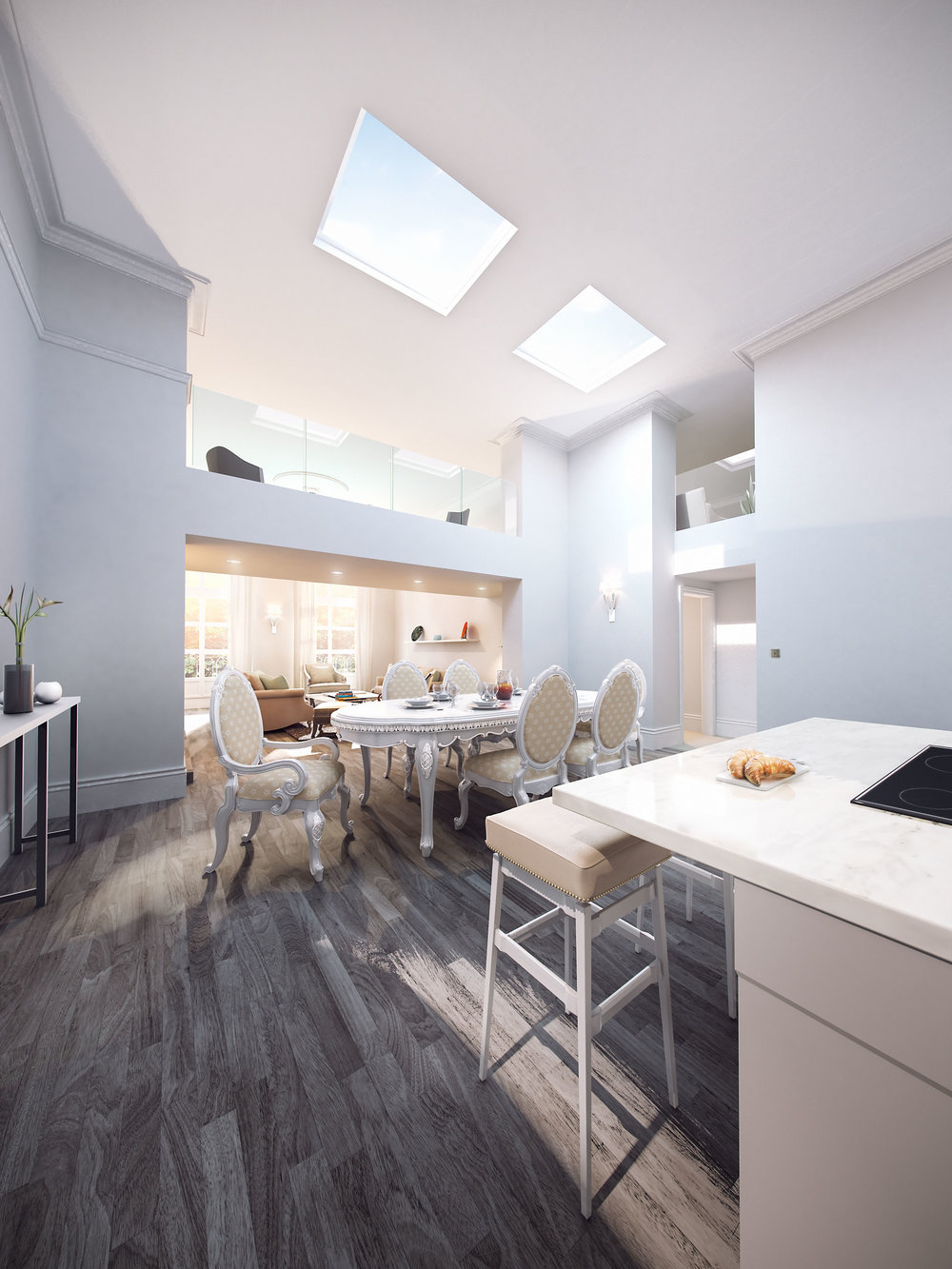 Queens Park Villas  - Interior Visual - Brighton, UK
