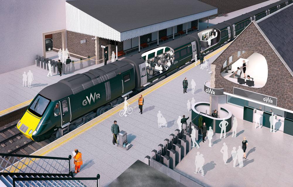 GWR Station Team - 3d Illustration