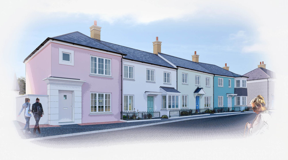 Nansledan  - Architectural Illustration - Newquay, Cornwall, UK