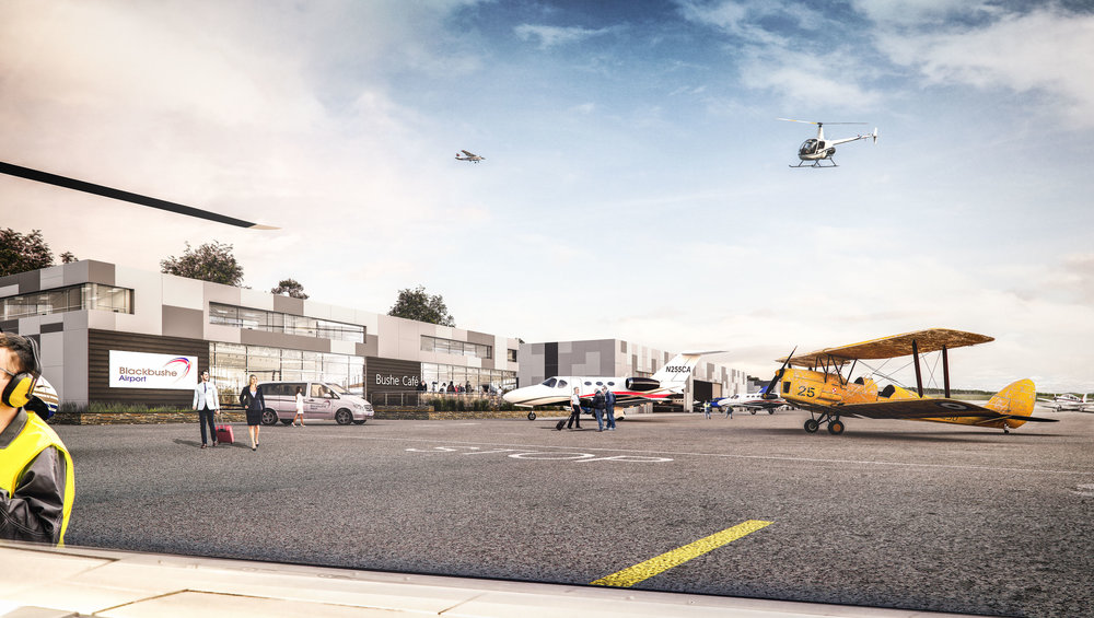 Blackbushe Airport  - Architectural Visualisation Surrey, UK