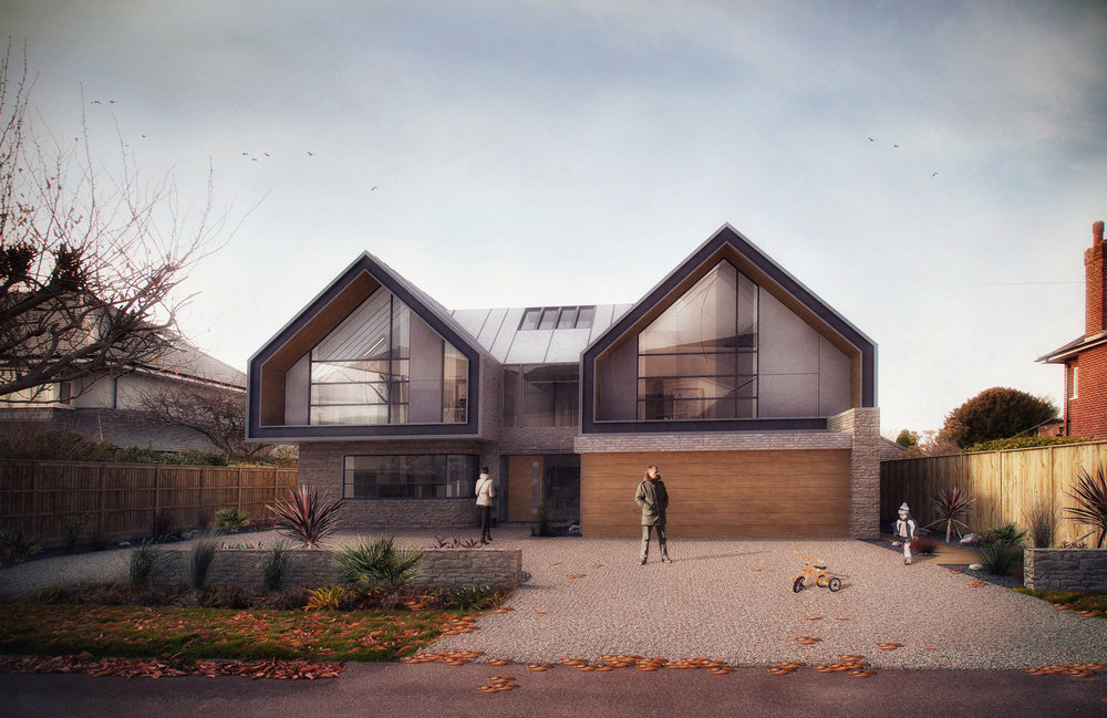 Rook Hill Road  - Architectural Visualisation - Christchurch, Dorset, UK