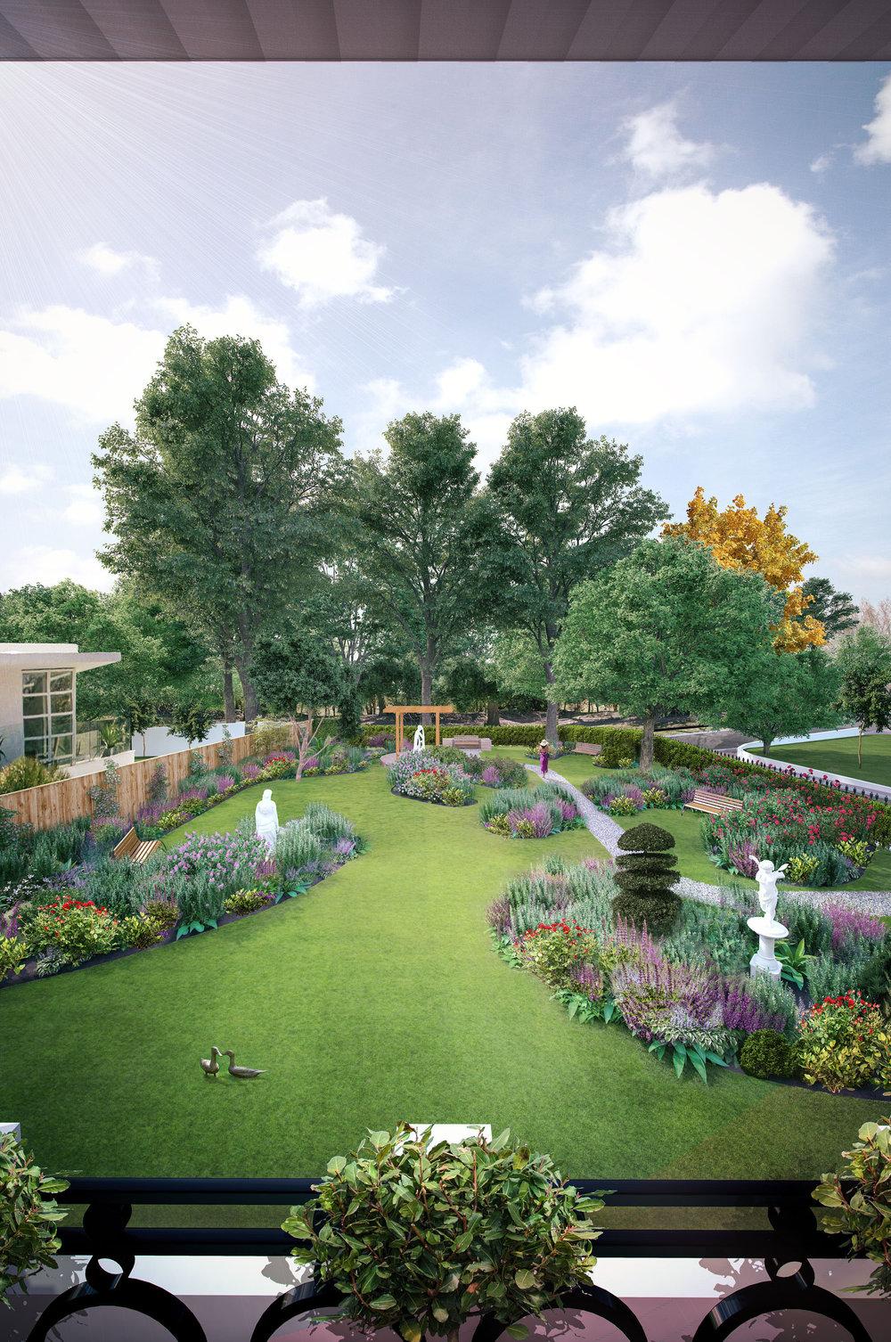 Queens Park Villas  - Landscaping Visualisation - Brighton, UK