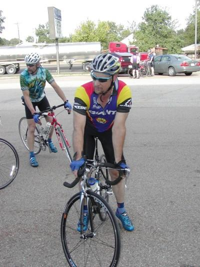 Steve (left) and Tommy (right) on Club Ride in Central Heights (2004)