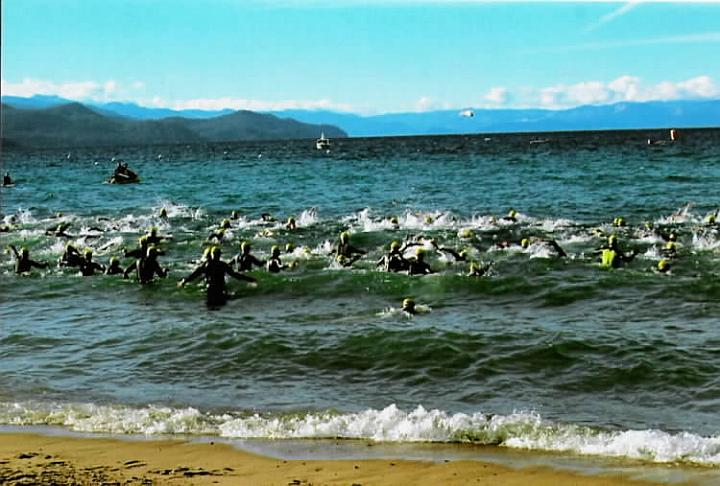 Richard at Xterra Nationals Swim Start (2005)