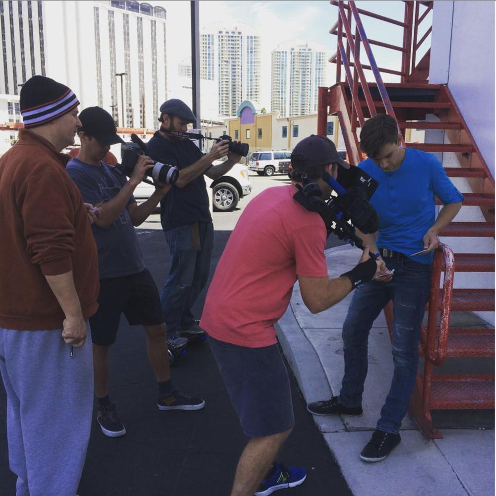 """Filming """"B"""" roll"""