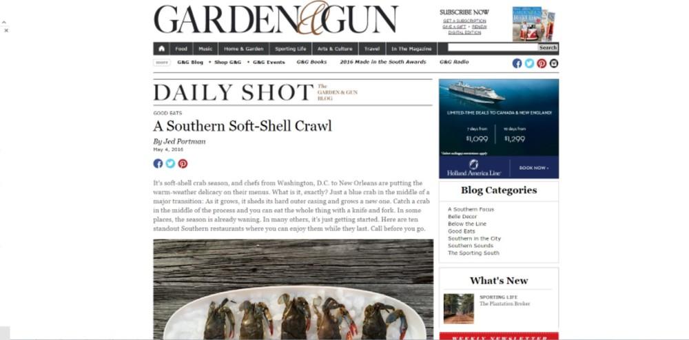 Garden & Gun May 2016