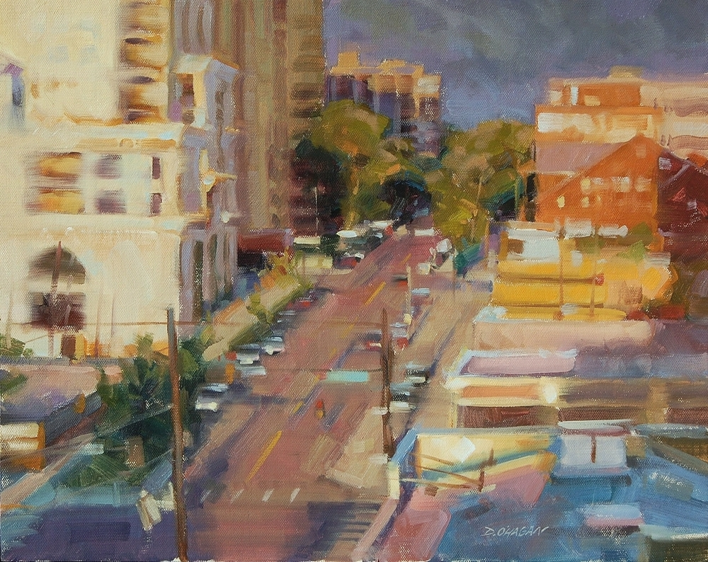 """9th Avenue Sunset, Denver""16""x 20""Oil"