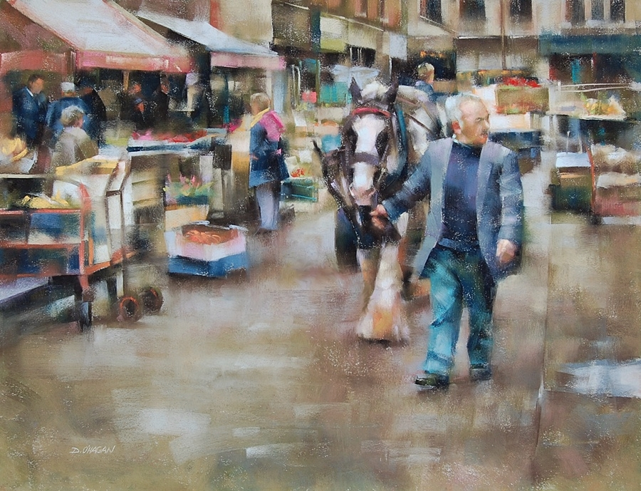 """Dublin Market""</br>18"" x 24""</br>Pastel"