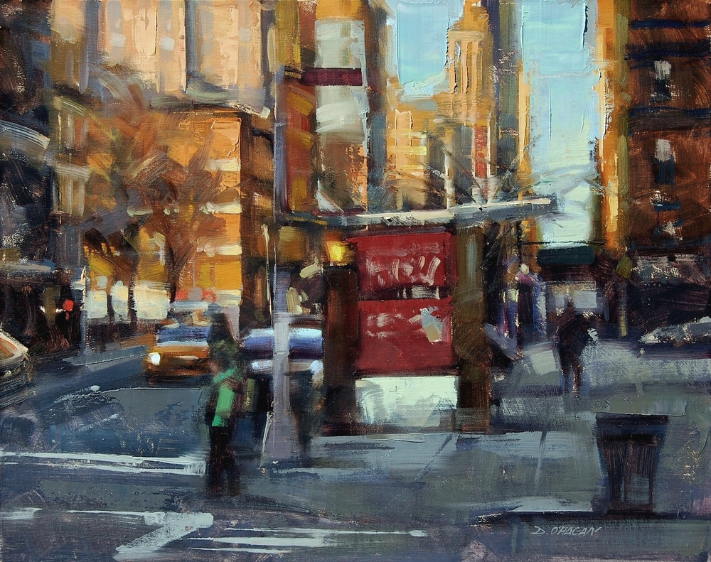 """Sunlit, NYC""</br>16"" x 20""</br>Oil"