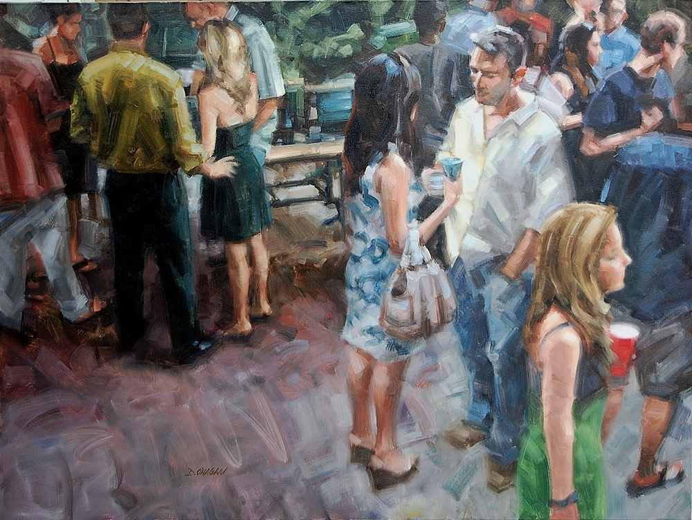 """Friends Gathering""</BR>36"" x 48""</BR>Oil"
