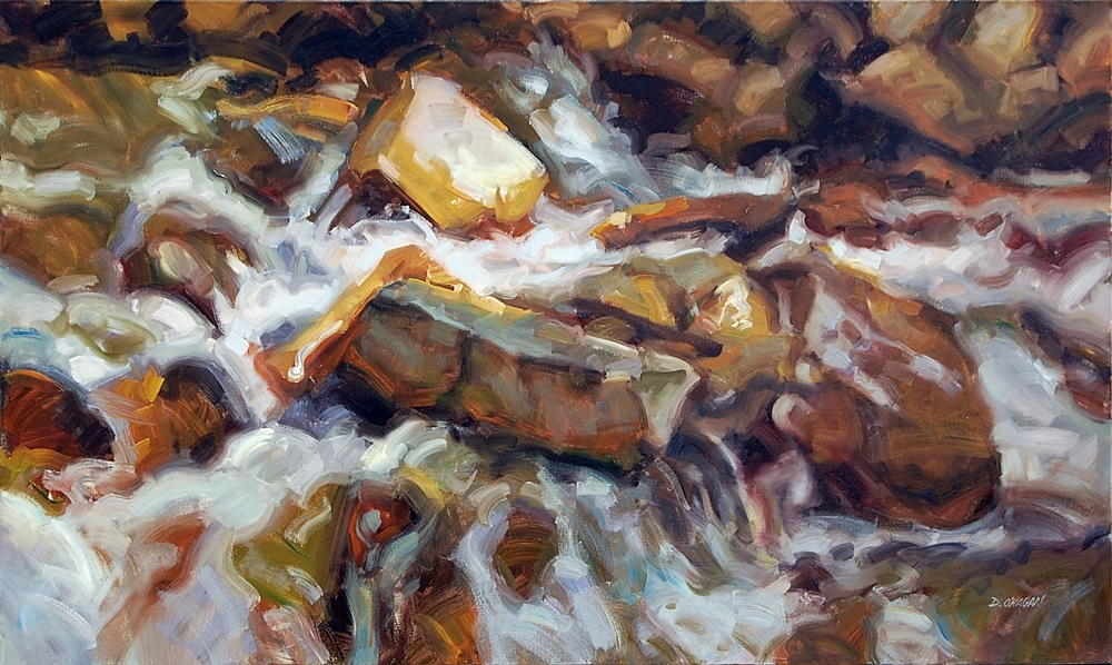 """Rushing"" </BR>36"" x 60"" </BR>Oil"