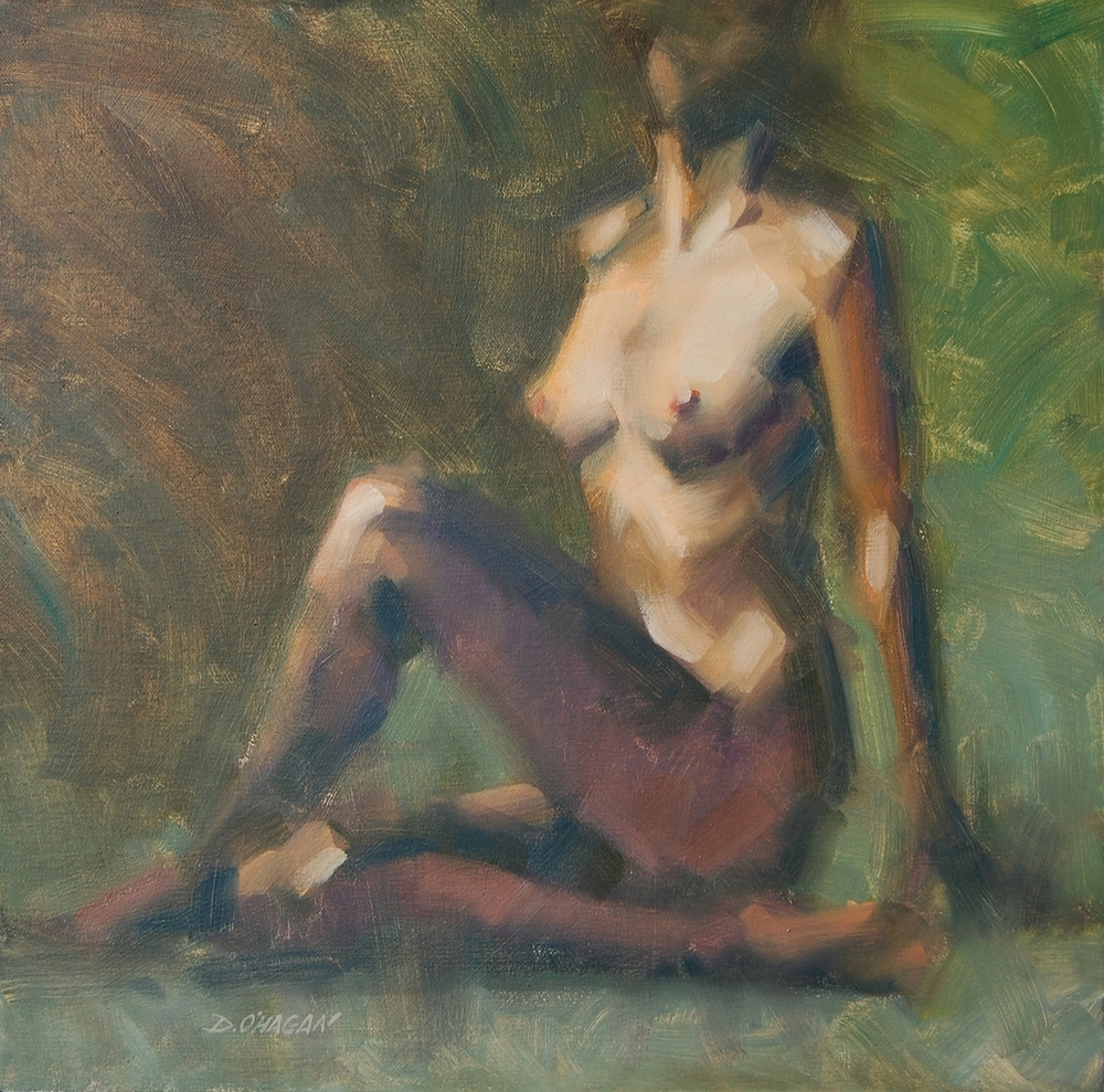 "The Female Figure #6  </br>18"" x 18""</br>Oil"