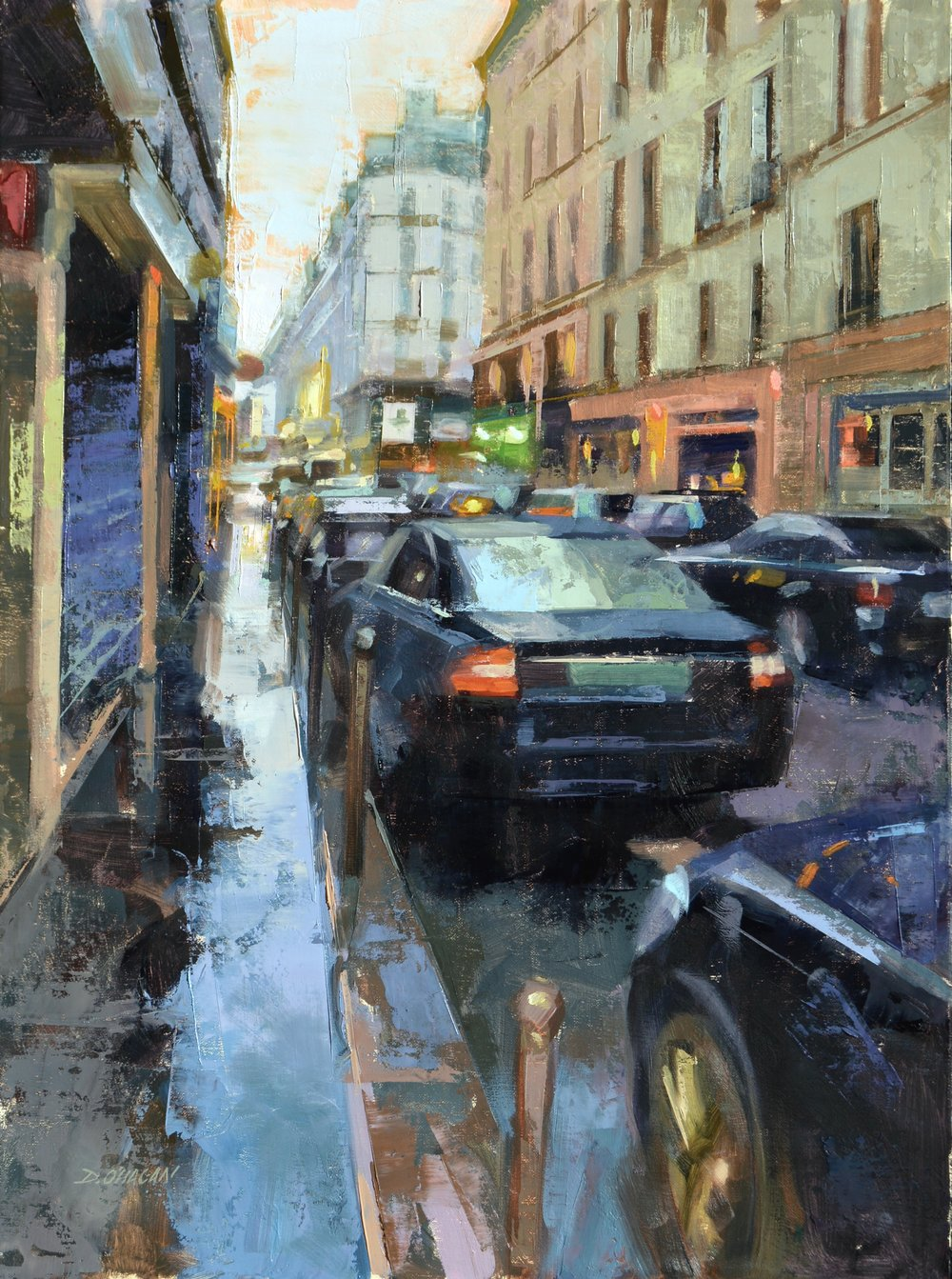 """Breaking Storm, Paris""<br>  24""x 18""<br  > Oil"