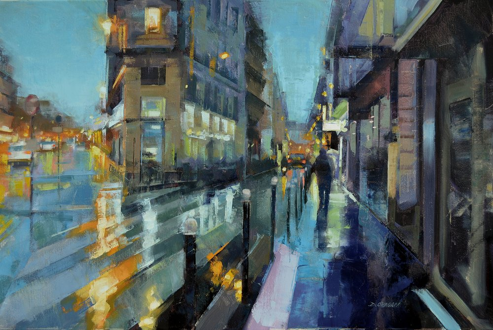 """The 9th at Dusk, Paris""<br>24""x 36""<br>Oil"