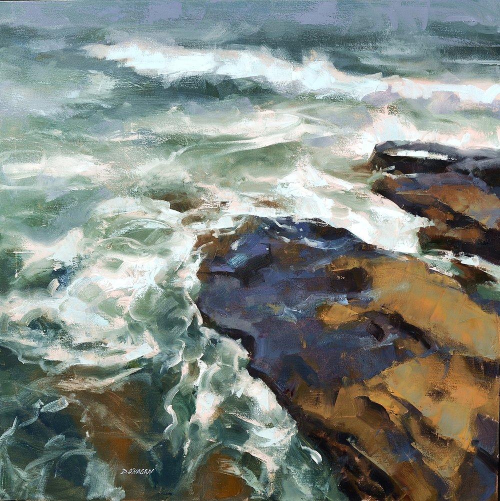 """Ocean Rhythms #14""  36""x 36""  Oil"