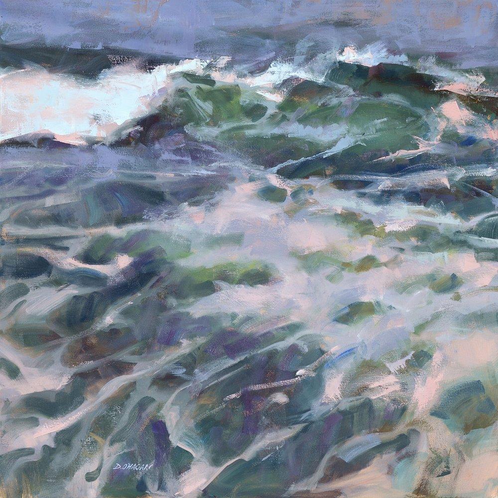 """Ocean Rhythms #19""  36""x 36""  Oil"