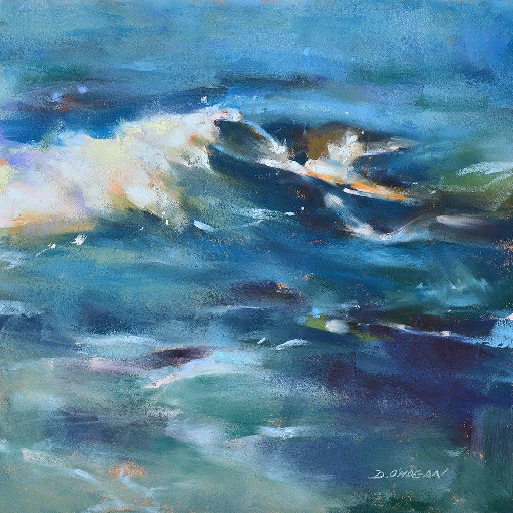 """Ocean Rhythms #7""  12""x 12""  Pastel"