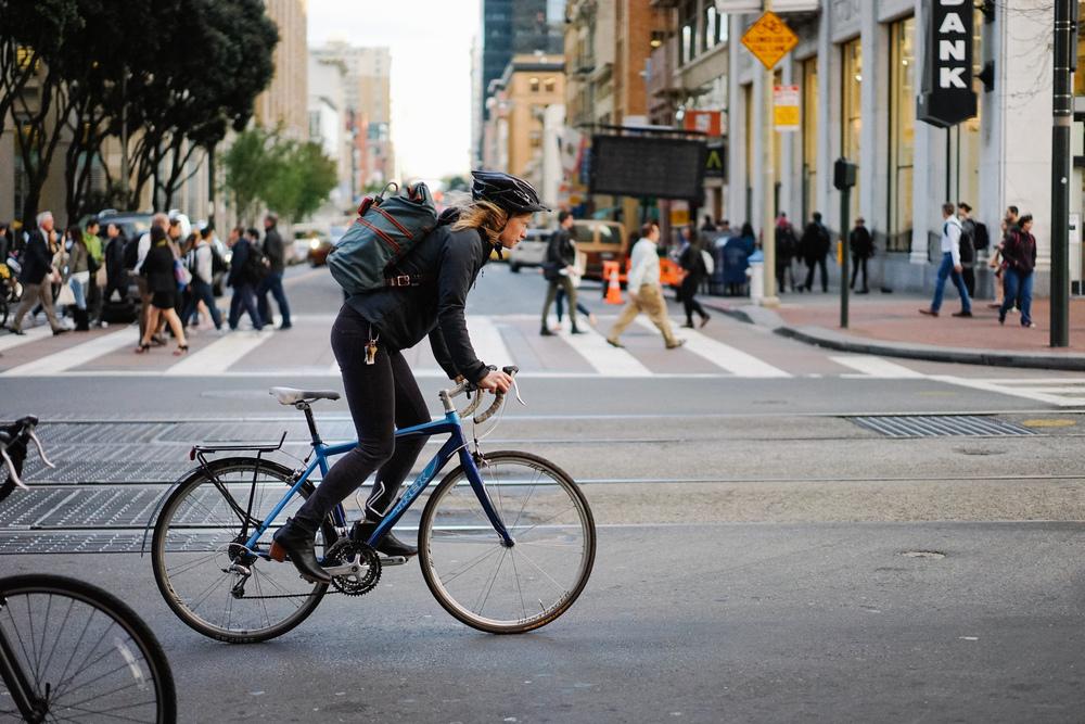 Market Street Cyclist