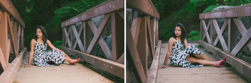 Left: Off-camera speedlight flash. Right: All natural light.
