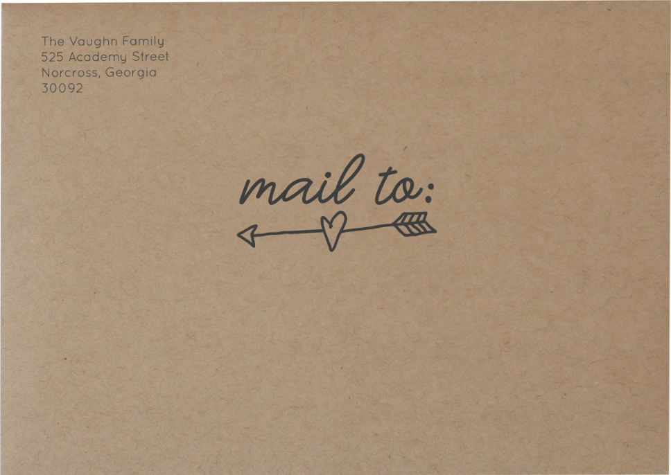 'Mail To Arrow' on Craft Envelope