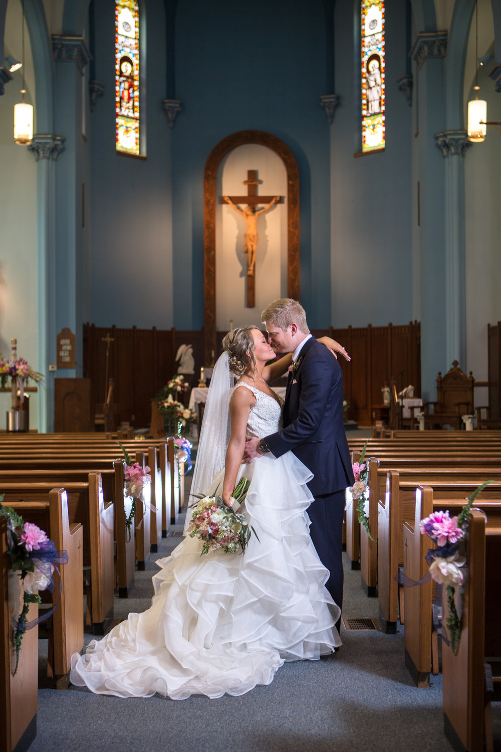St. Patrick Catholic Church Minonk Packard Plaza Peoria Bloomington Normal Illinois Wedding Photographer Photographers Peoria Riverfront-27.jpg