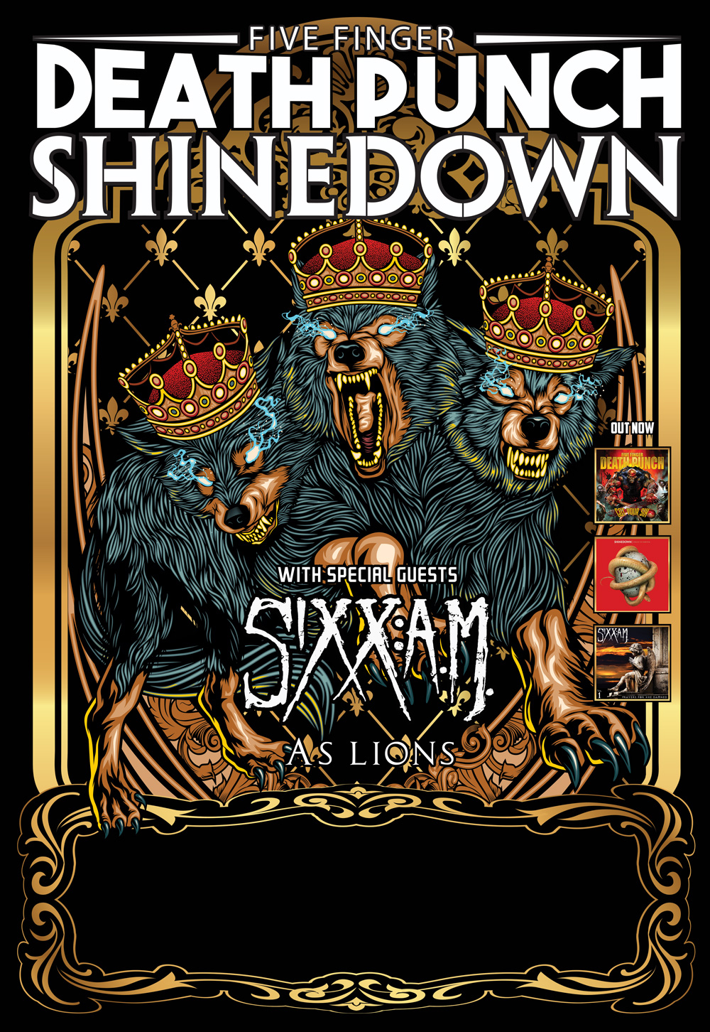 Los Angeles Ca April 26th 2016 Five Finger Punch And Shinedown Are Partnering To Co Headline The Biggest Fall Arena Rock Tour 2016 Produced By