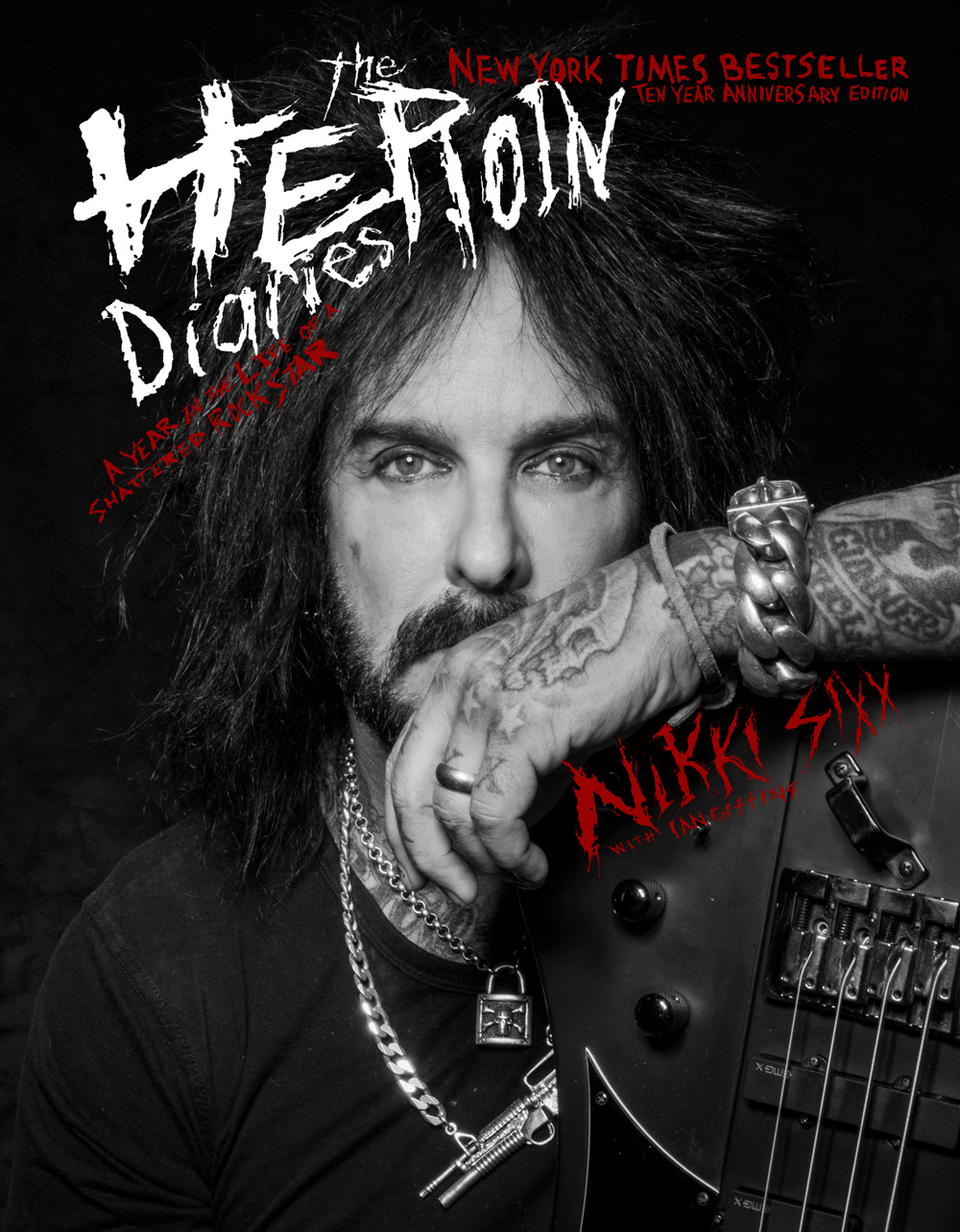 THE HEROIN DIARIES: Ten Year Anniversary Edition by Nikki Sixx Featuring Exclusive New Chapters, New Cover & Never-Before-Seen Photos Out October 24th on Gallery Books / Simon & Schuster
