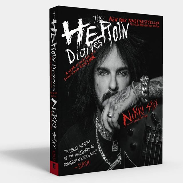 """A great account of the nightmare and addition of Rock n' Roll -Slash"" The Heroin Diaries: Ten Year Anniversary Edition featuring 100 new pages and photos is available in stores now, and from Pledge Music at pledgemusic.com/sixxammusic. #sixxam #nikkisixx #heroin #heroindiaries #theheroindiaries"